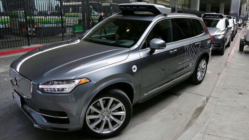 Uber self-drive cars