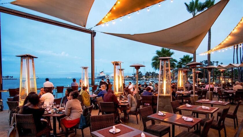 Fuego restaurant at Hotel Maya in Long Beach, California. Credit: Hotel Maya ? a Doubletree by Hilto