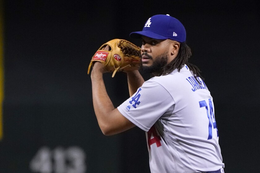 Dodgers closer Kenley Jansen delivers a pitch.