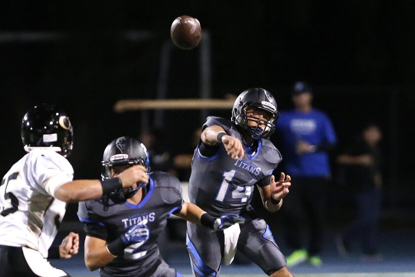 Eastlake quarterback Izzack Morales returns to run the Titans' offense.