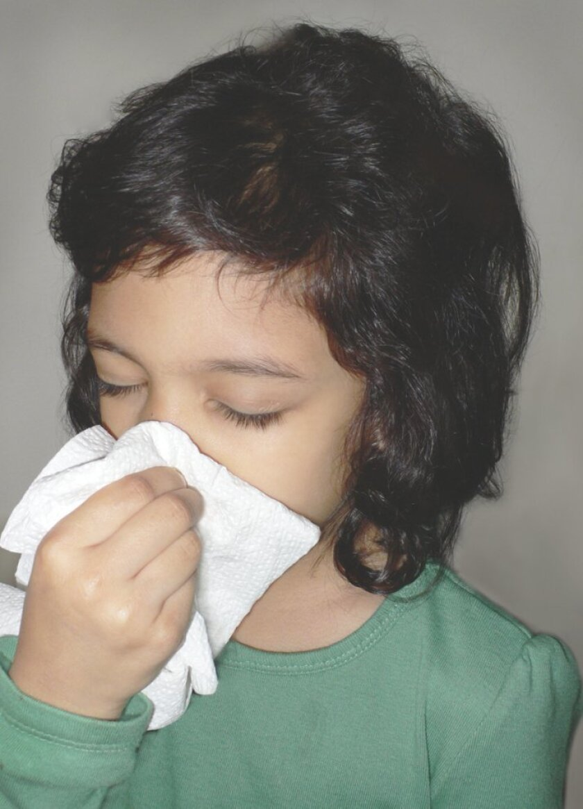 Child with a cold.