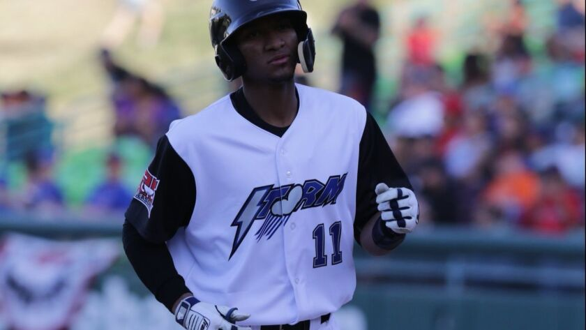 Outfield prospect Edward Olivares started the 2018 season at high Single-A Lake Elsinore, an affilia