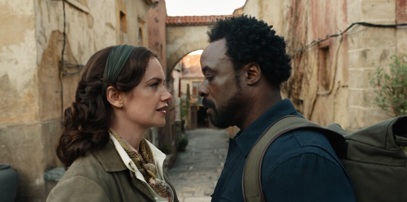 "Ruth Wilson, left, and Ariyon Bakare in ""His Dark Materials."""
