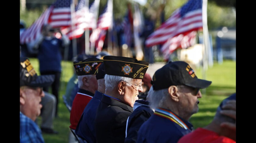 Photo Gallery: Veterans honored at annual Two Strike Park Veteran's Day celebrationq