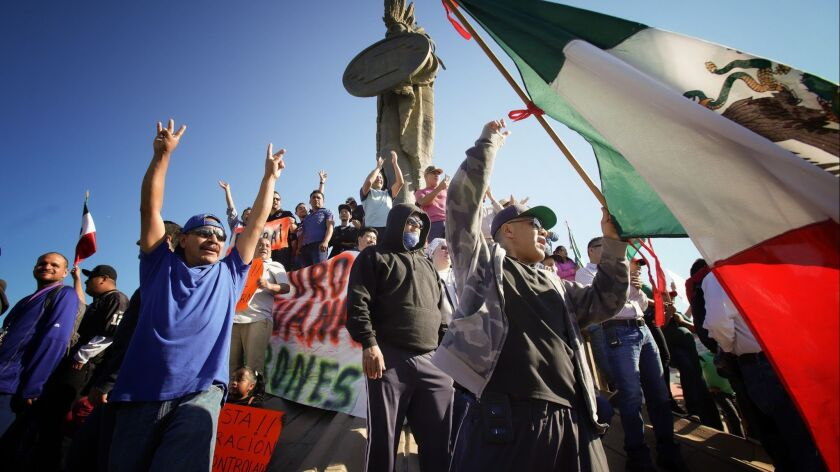 Protestors began their protest at the Zone Rio near the monument of Cuauhtemoc, and later marched to
