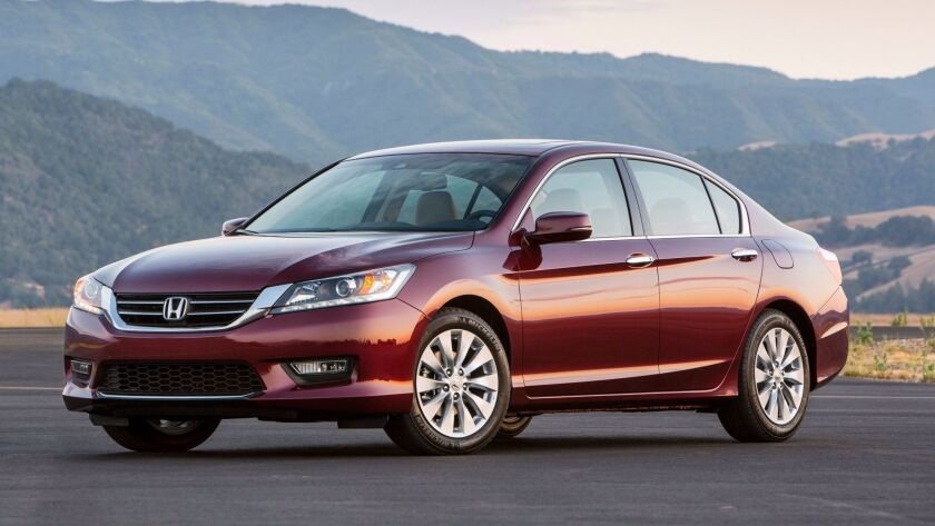 The 2013 Honda Accord.
