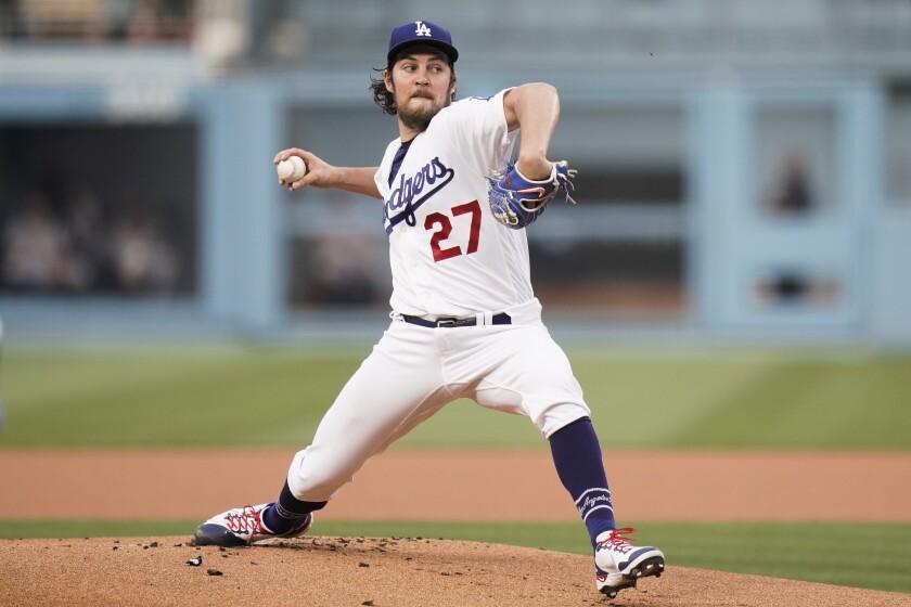 Los Angeles Dodgers starting pitcher Trevor Bauer.