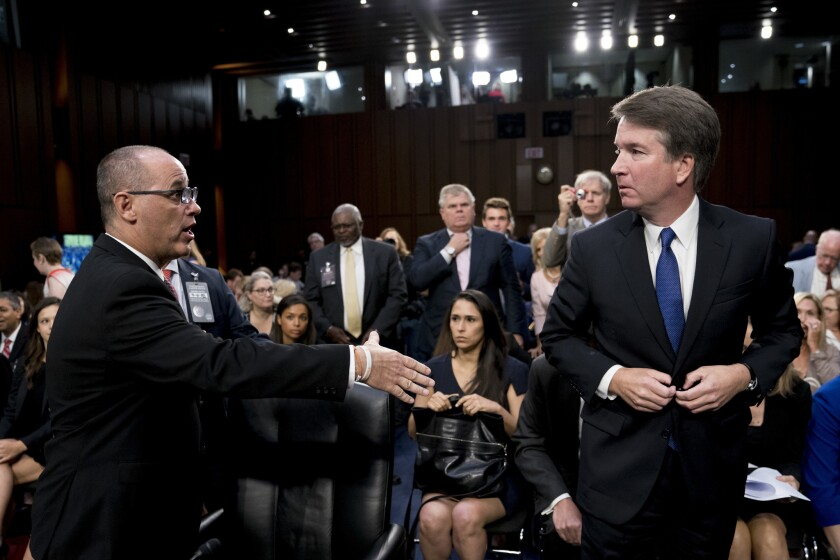 Fred Guttenberg, the father of Jamie Guttenberg who was killed in the Stoneman Douglas High School shooting in Parkland, Fla., attempted to shake hands with Brett Kavanaugh as he left for a lunch break while appearing before the Senate Judiciary Committee last week.