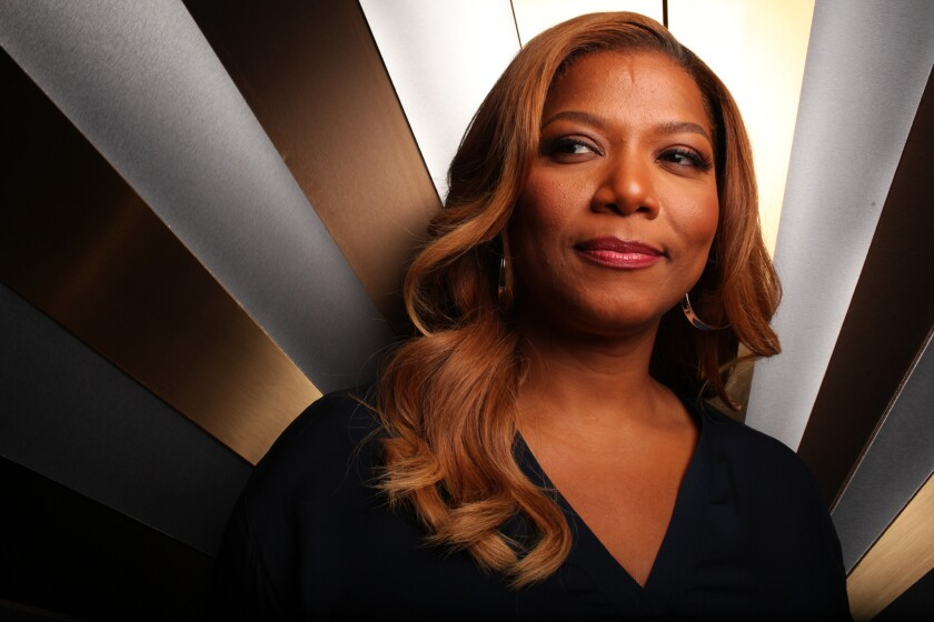 "Queen Latifah on the set of ""The Queen Latifah Show."" BET's Centric will air the talk show in prime time and has also picked up the VH1-canceled ""Single Ladies,"" which comes from her production company."