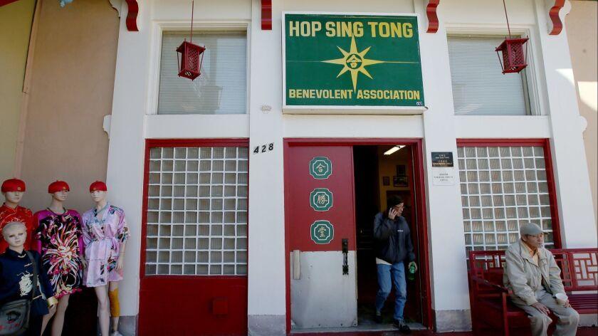 LOS ANGELES, CALIF. - JAN. 27, 2017. Two men were stabbed to death at the Hop Sing Tong Benevolent