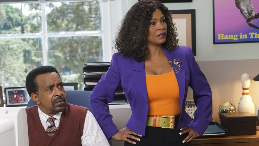 "Tim Meadows and Nia Long in ""The Goldbergs"" on ABC"