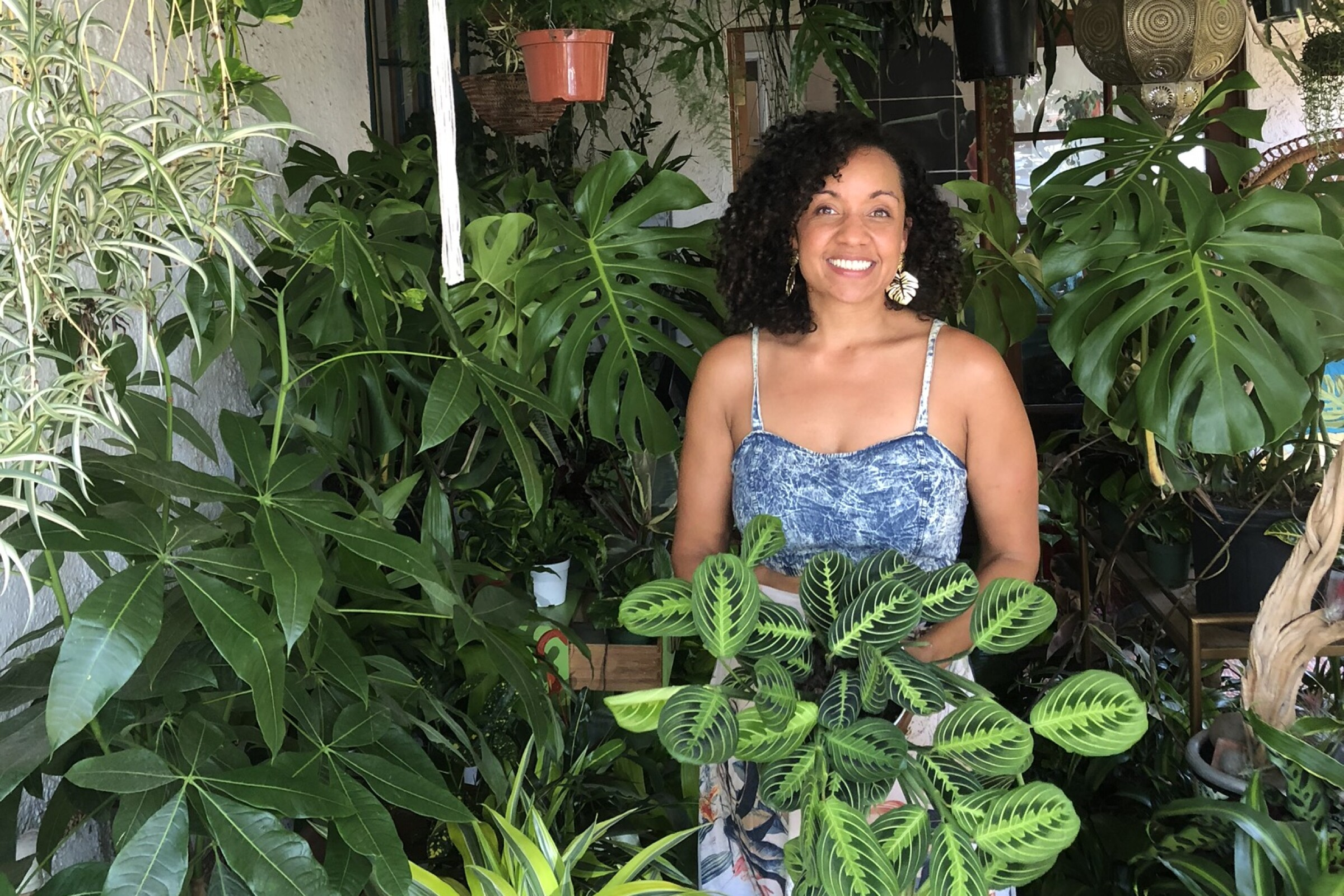 Stephanie Ward, the sole owner of Imperial Beach plant shop Jungle Fever San Diego