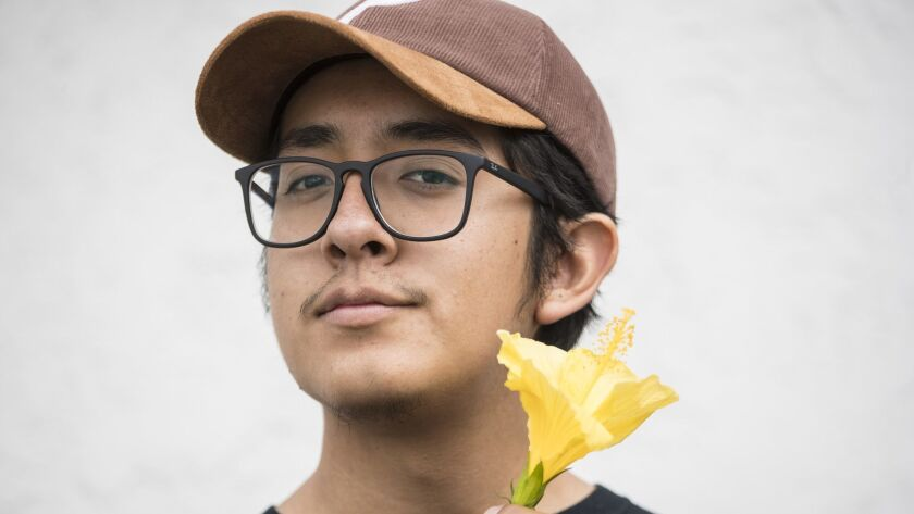 HAWTHORNE, CA -- MONDAY, OCTOBER 30: Teenaged Chicano heartthrob Cuco poses for photographs near his