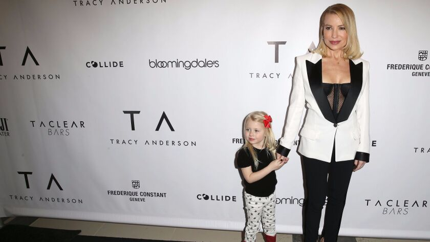 Tracy Anderson and daughter Penny Mogol.