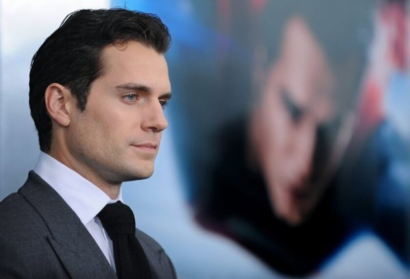 """""""Man of Steel"""" star Henry Cavill attends the film's world premiere at Lincoln Center in New York."""