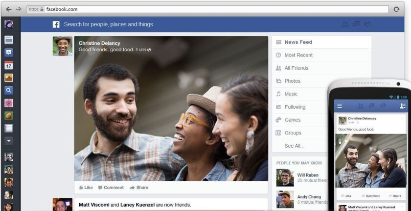 Facebook revealed its new news feed, but many on the Web think the design looks a lot like Google+.