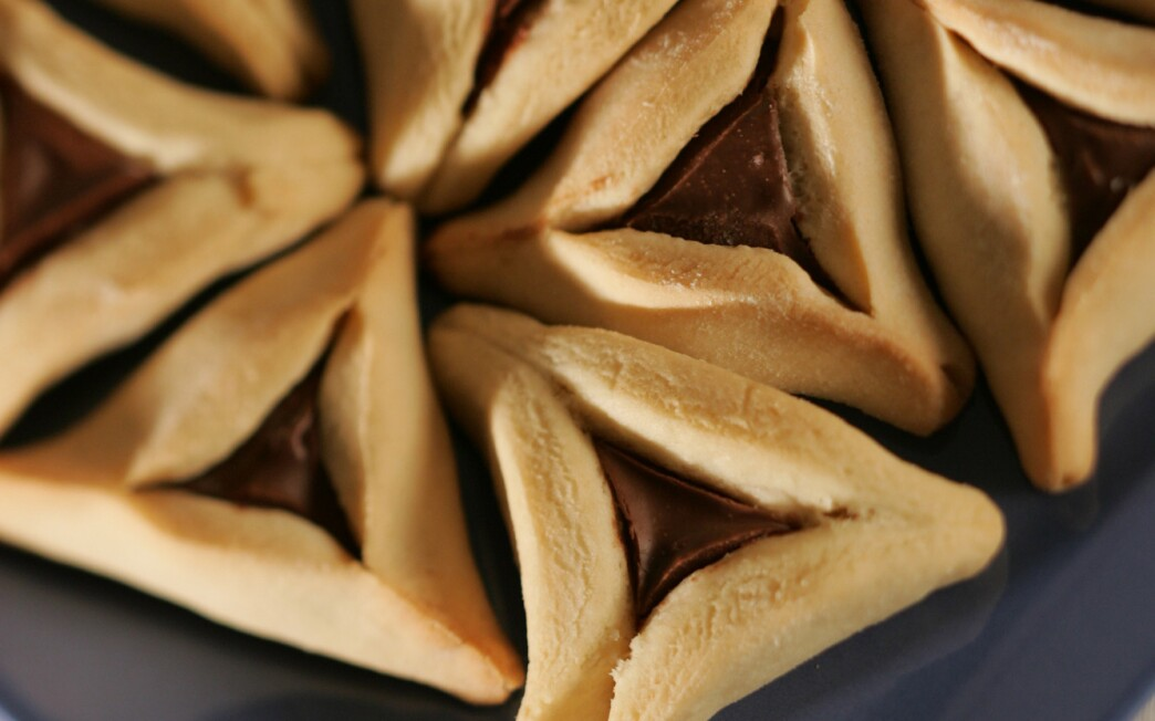 My mother's hamantaschen, but filled with Nutella