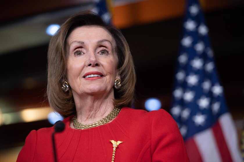House Speaker Nancy Pelosi had held off sending the articles of impeachment to the Senate for nearly a month.