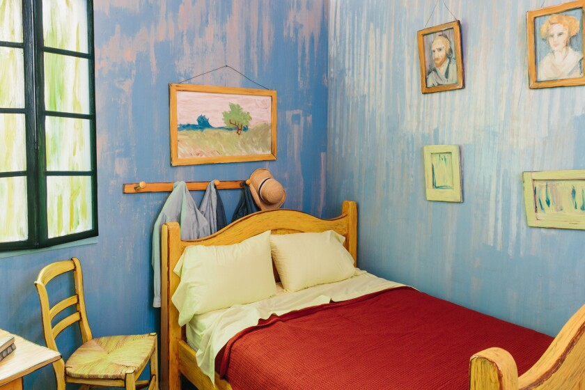 Chicago How You Can Spend A Night Inside Van Gogh S Bedroom For 10 Los Angeles Times