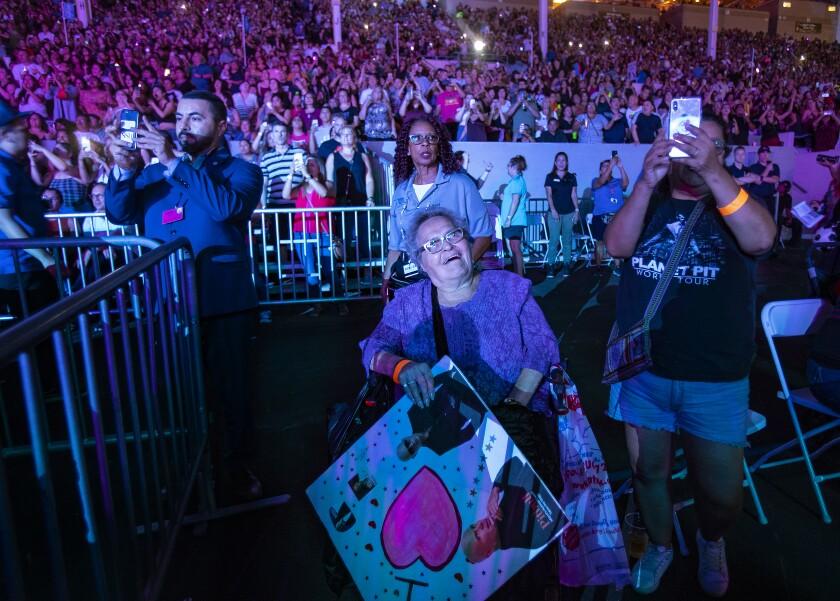 Pitbull fan at 2019 L.A. County Fair