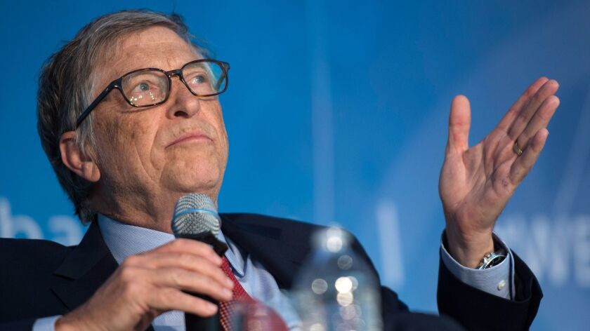 Bill Gates in April at the IMF/World Bank spring meeting in Washington, D.C. In a video, Gates said President Trump asked him on two occasions whether there was a difference between HIV and HPV.