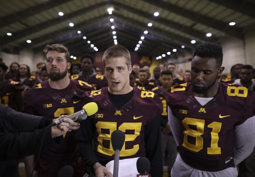 Minnesota players boycotting football activities