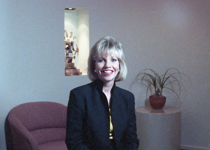 Gail Stoorza Gill, in her downtown office in 1989.