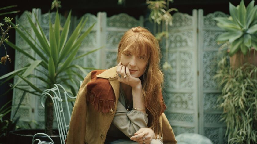 """""""What has been really beautiful is to find that creativity is not aligned with self-destruction,"""" says Florence Welch of Florence + The Machine."""