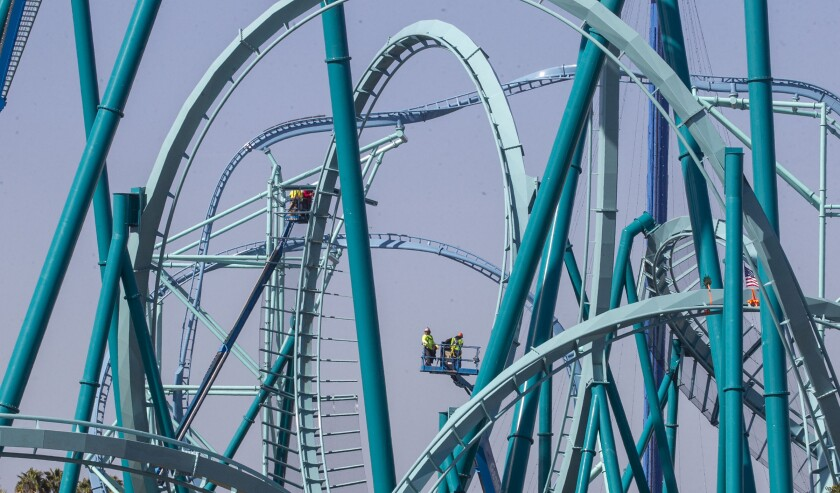 Emperor roller coaster at SeaWorld.