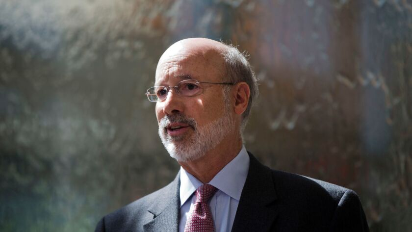 Pennsylvania Gov. Tom Wolf speaks during a news conference at the Temple University Lewis Katz School of Medicine in Philadelphia last year regarding the opioid abuse epidemic.