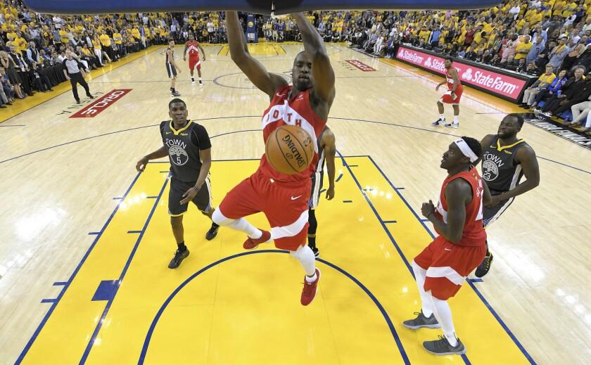 APphoto_NBA Finals Raptors Warriors Basketball