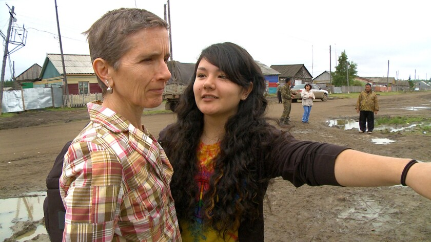 """Susie Crate, left, and daughter Katie Yegorov-Crate in the documentary """"The Anthropologist."""""""