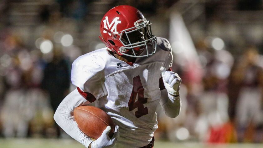 Monte Vista's Jahmon McClendon rushed for 333 yards and five touchdowns in the Monarchs' win over Patrick Henry.