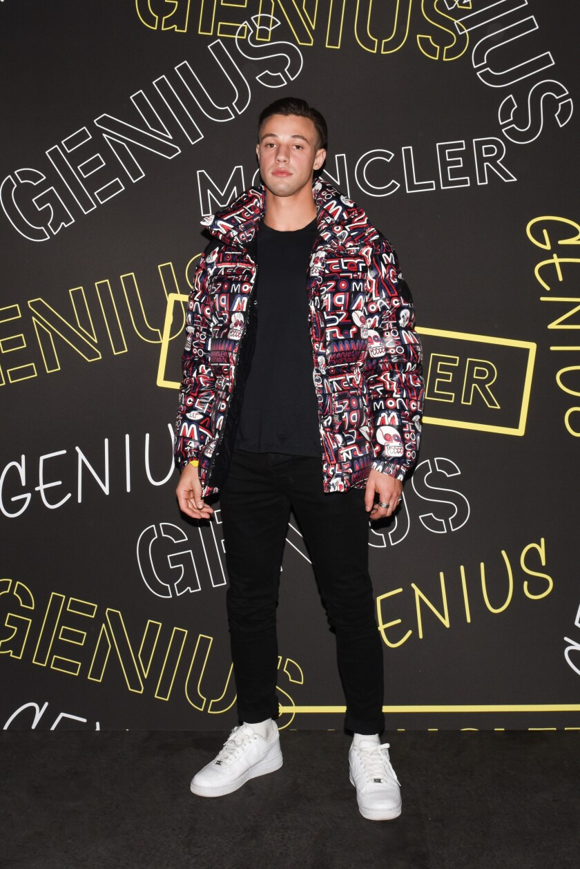 Cameron Dallas at the Moncler House of Genius launch party at Maxfield in West Hollywood