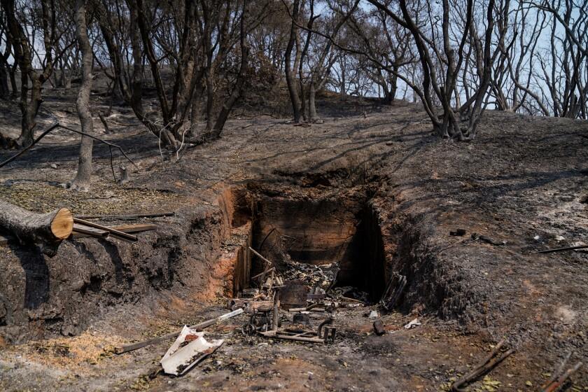 A fire bunker built by Leo McDermott