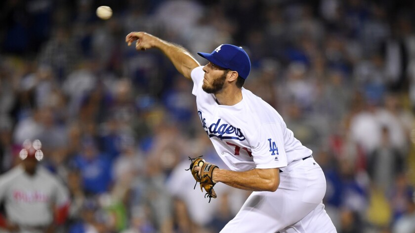 Dodgers reliever Josh Ravin pitched a scoreless ninth inning against the Phillies on Monday night.