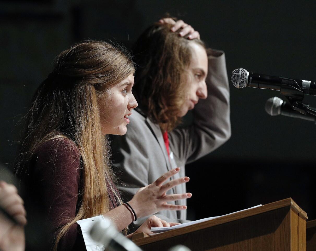 Photo Gallery: First political speech debate at Burbank High School