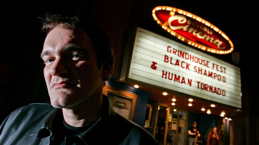 Director and current proprietor Quentin Tarantino at the New Beverly Theater in 2007, where he curat