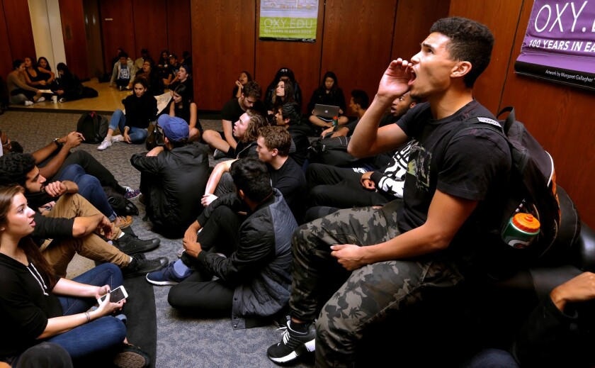 Occidental College student protest