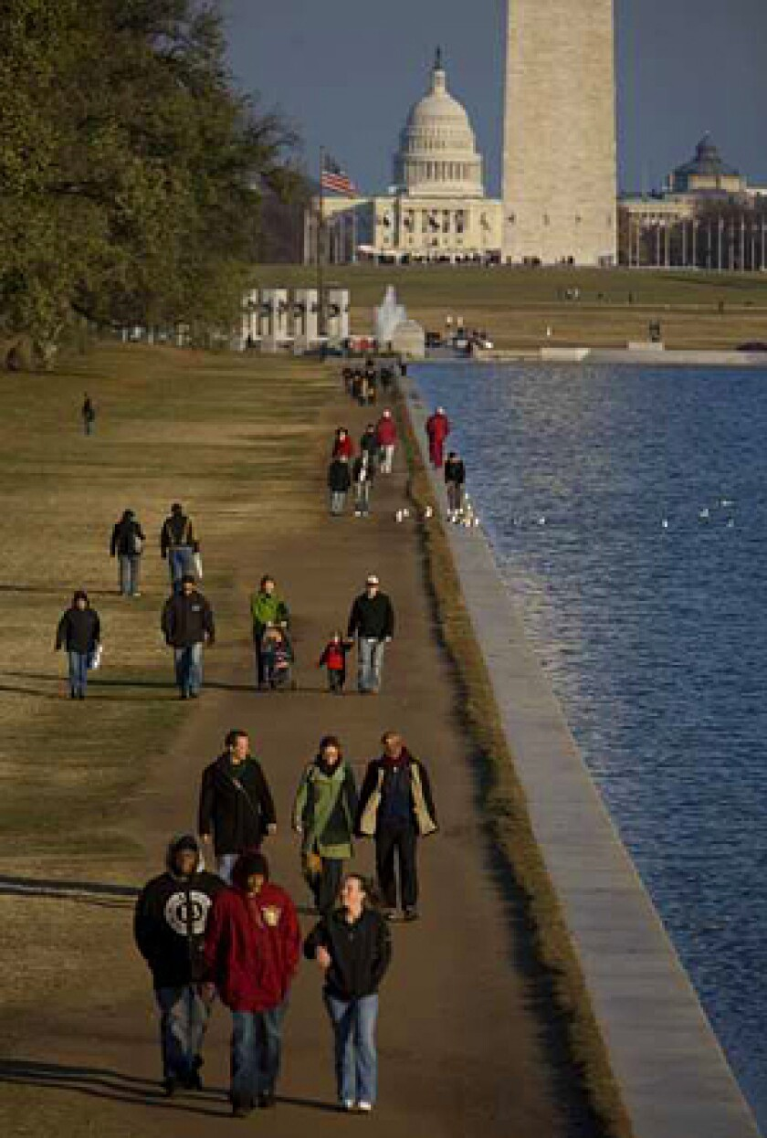 WORK TO BE DONE: The National Mall in Washington, D.C., has fallen into disrepair.