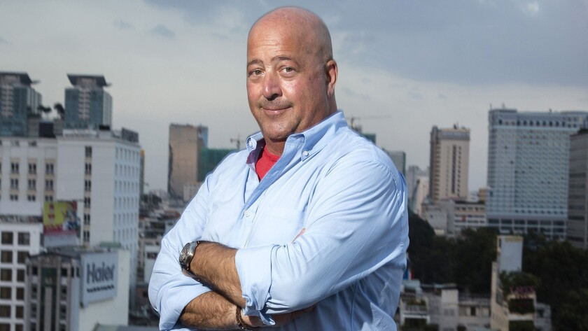 """Andrew Zimmern is back with new episodes of """"Bizarre Foods"""" on the Travel Channel."""