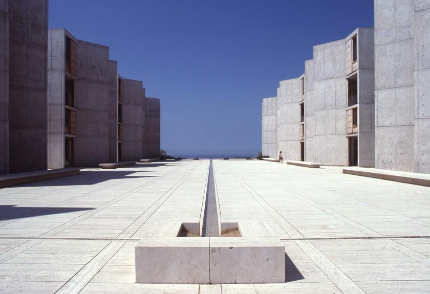 Louis Kahn's Salk Institute for Biological Studies in La Jolla, 1965.