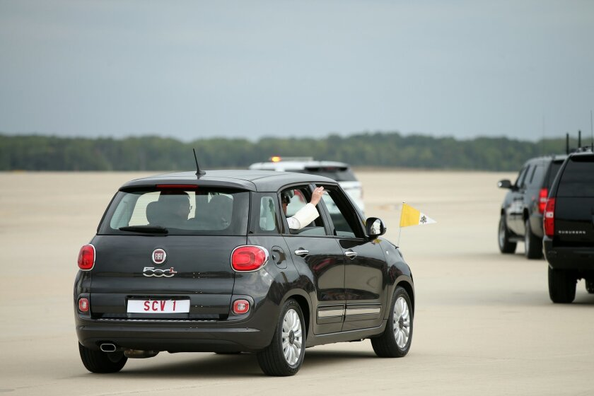 Fiat San Diego >> Pope Conquers America By Fiat The San Diego Union Tribune