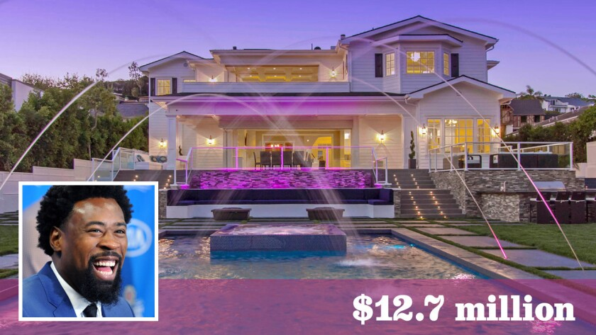 DeAndre Jordan's new $12.7-million home in Pacific Palisades features seven bedrooms, nine bathrooms, an elevator and and movie theater in 10,500 square feet of space.