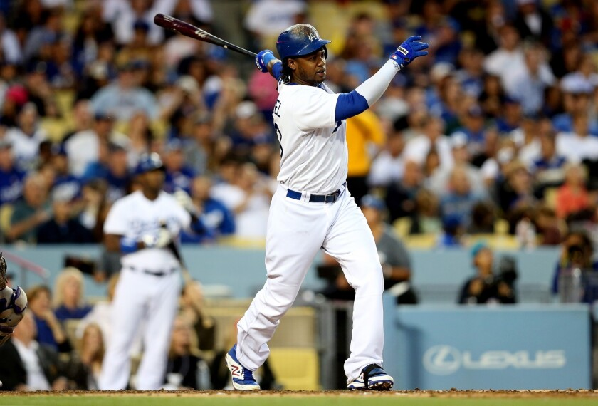 Hanley Ramirez hits a two run home run in the third inning against the Colorado Rockies on June 17.