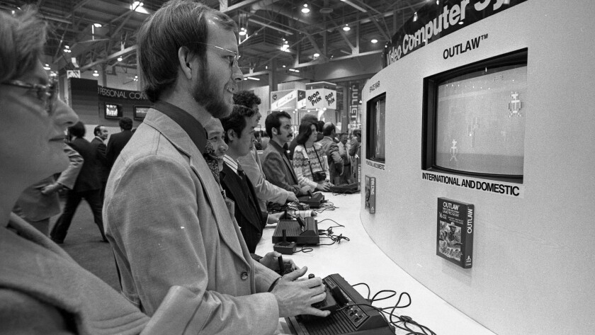 Video games were the cool new thing in 1979 at the second Consumer Electronics Show in Las Vegas.