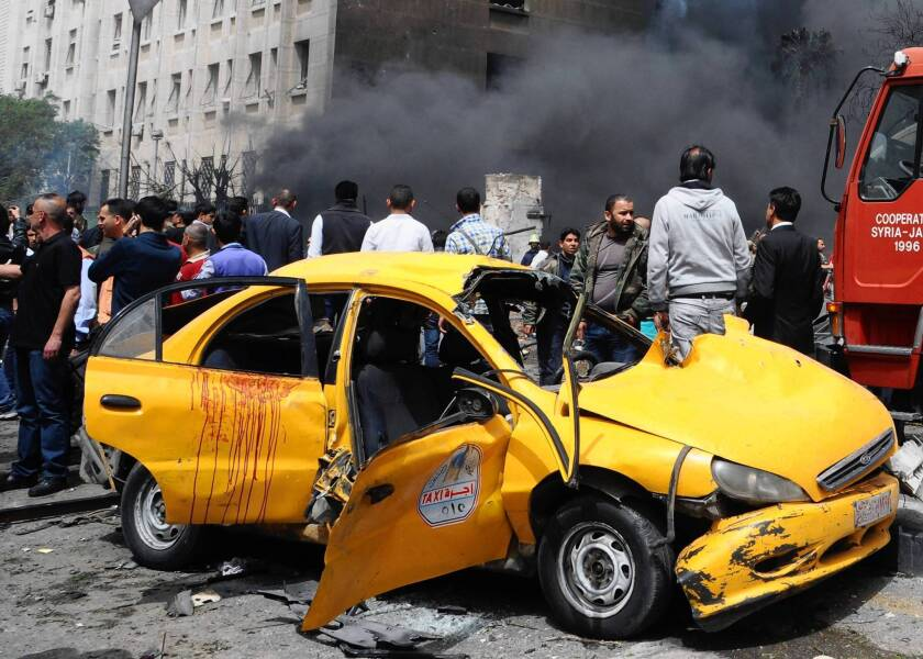 Syria car bombing kills at least 15 in Damascus