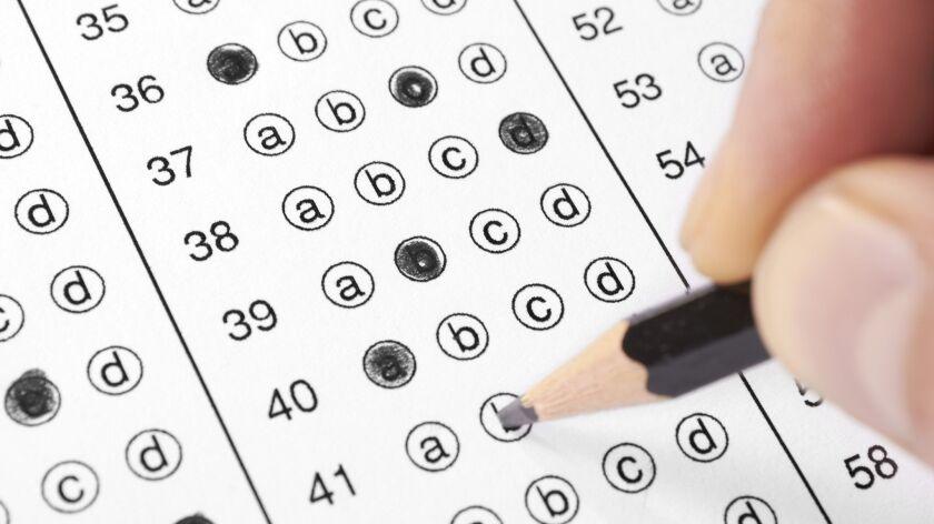 Answer sheet for a multiple choice test with pencil. (kaan tanman, Getty Images) ** OUTS - ELSENT, F