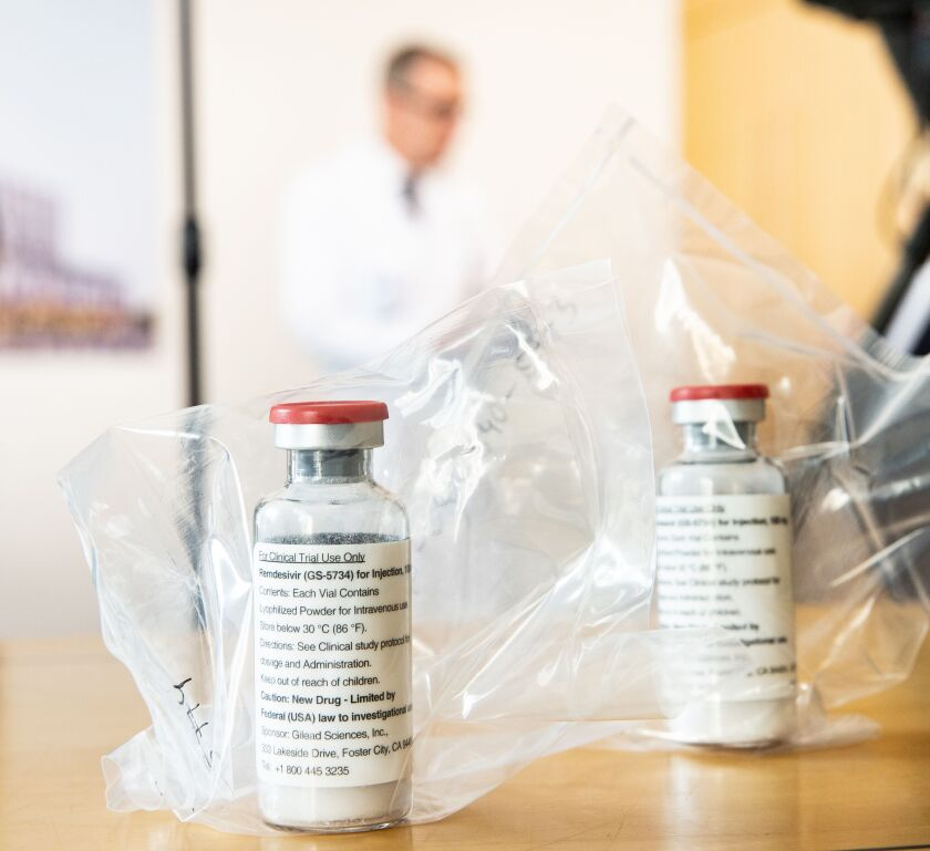 Remdesivir is being tested as a treatment for patients infected with the coronavirus.