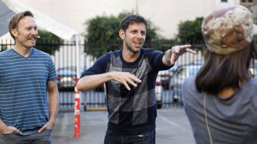 "LOS ANGELES, CALIF. -- SUNDAY, NOVEMBER 5, 2017: Yuval Sharon, director, ""War of the Worlds,"" works"